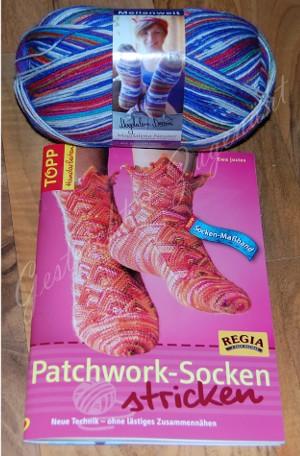 Patchworksocken-Geschenk
